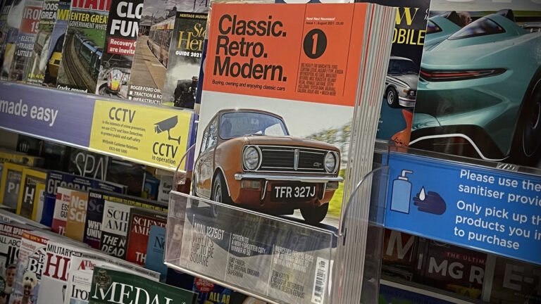 Classic Retro Modern on shelf